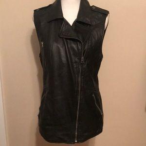 EUC Lucky Brand leather vest